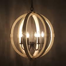 journee lighting. Journee Home \u0027Oran\u0027 28 In Wood 6 Light Hard Wired Orb Chandelier - Free Shipping Today Overstock 20677155 Lighting N