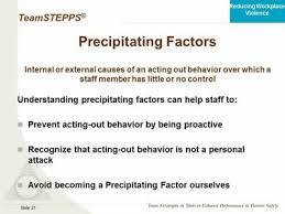 Precipitating Factors Reducing Workplace Violence With Teamstepps Agency For