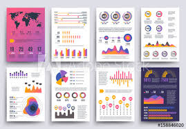 Graphical Business Report Vector Template With Modern Style