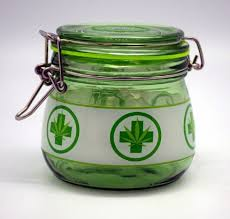 large glass silicone sealed jar for herb and storage 4 inches tall