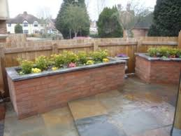 raised flower beds brick