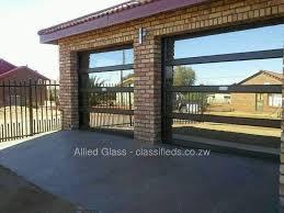 aluminium garage door bronze reflective