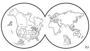 Small Picture Printable Earth Coloring Pages Map coloring page
