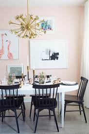 lacquering a dining table emily henderson pink dining room y gold
