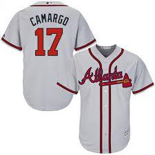 xl Mlb Majestic Official Authentic l Atlanta xxl S xxxxl Road Cool Camargo Men's Player Jersey Gray m xxxl Base Braves Johan