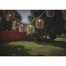 Bamboo Barrel Lights Gerson 8 5 Ft 10 Light Warm White Bamboo Barrel Lantern