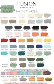 Colour Chart Fusion Mineral Paint Colour Chart And Getting Started With Fusion