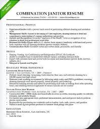 Cleaning Job Resume Custodial Worker Sample Free Cleaner Description