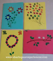 Choose from hundreds of templates, add photos and your own message. Fingerprint Greeting Card Activity For Kids Sharing Our Experiences