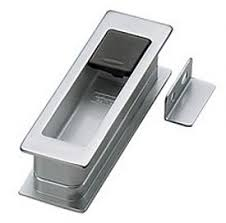 shown in a dull chrome finish with door stopper recessed pulls r86
