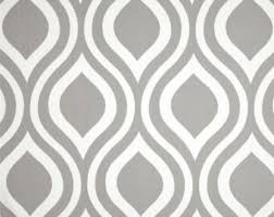 Grey Fabric by the YARD Home Decor Weight Premier Prints Emily storm ogee  modern geometric upholstery