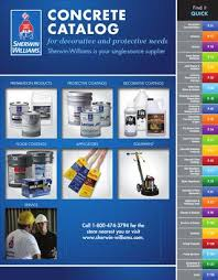 Sherwin Williams Industrial Color Chart Sherwin Williams Concrete Catalog By Sherwin Williams Issuu