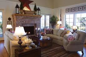 paint colors for living room with red brick fireplace