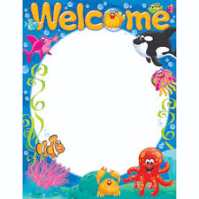 Welcome Chart Images Welcome Sea Buddies Learning Chart