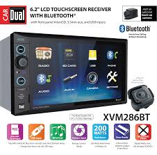 Dual Electronics Xvm286bt 6 2 Inch Led Backlit Lcd Multimedia Touch Screen Double Din Car Stereo With Built In Bluetooth Usb Microsd Ports Steering