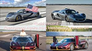 Top Cars]: WORLD RECORD - Koenigsegg Agera RS & Hennessey Venom GT ...