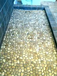 tiled shower floors river rock tile floor mosaic medium porcelain for pictures with