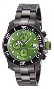 invicta men s 11227 pro diver chronograph green dial gunmetal invicta men s 11227 pro diver chronograph green dial gunmetal stainless steel watch