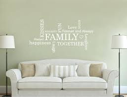 family word art wall stickers quotes