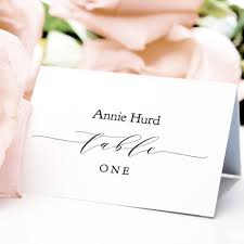 Place Setting Template Classy Place Cards Connie Joan DIY