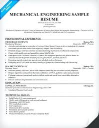Technical Skills In Resume For Mechanical Engineer Mechanical Engineering Student Resume Examples Template Engineer
