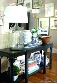 black console table decor. Brilliant Console Black Sofa Table Decor Decorating Console Behind Couch Good Looking  1 Gorgeous   With Black Console Table Decor