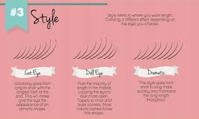 most mon styles include but are not limited to cat eye doll eye and dramatic cat eye draws the eye out with length at the ends making the eye look