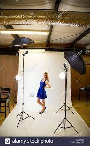 The Lighting Studio An Attractive Teen Poses For A Photo Indoors In A Lighting