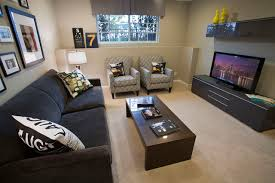 Finished Basement Hangout contemporary-home-theater