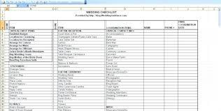 Wedding Planning Checklist Excel Budget Spreadsheet Free Printable