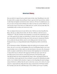 analysis of american beauty dk analysis of american beauty engelsk · essay