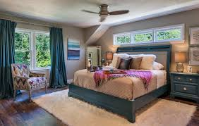 pam oulundsen mandeville canyon designs photo by nat rea bedroom with fur rug db design