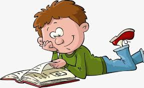 cartoon boy reading png image and clipart for free