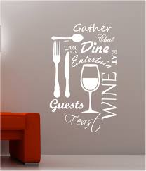 Kitchen Word Cloud Vinyl Wall Art Quote Sticker Dining Food Wine Living Room Wall Art Writing