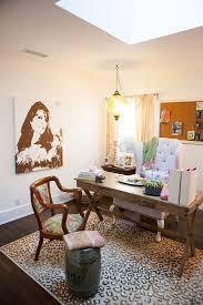feminine office furniture. eclectic office furniture leopard rug in home with elegant feminine