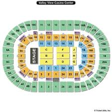 Sports Arena Seating Chart Valley View Casino Center Seating Chart Cirque Du Soleil