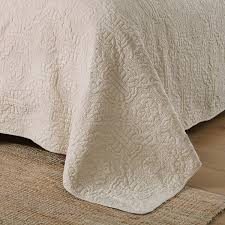 CHAUSUB Beige Quilt Set 3PC 100% Cotton Quilts Embroidered Quilted ... & CHAUSUB Beige Quilt Set 3PC 100% Cotton Quilts Embroidered Quilted  Bedspread Sheets Bed Cover 2 Pillowcase Coverlets King Size-in Quilts from  Home & Garden ... Adamdwight.com