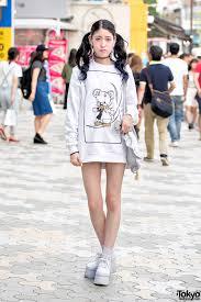 harajuku in twin ls w monomania sweatshirt dress ank rouge bag