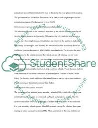 Sample Of Strength And Weaknesses The Strengths And Weaknesses Of The Educational System In