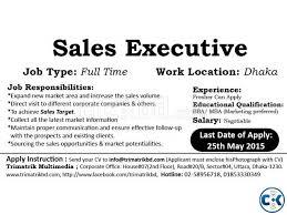 Sales Executive Job Description Marketing Sales Executive Clickbd