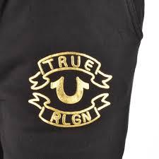 true religion logo. men joggers - true religion logo jogging bottoms black mens u93p2740