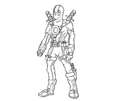 Small Picture Deadpool Coloring Page Free Printable Coloring Pages Coloring