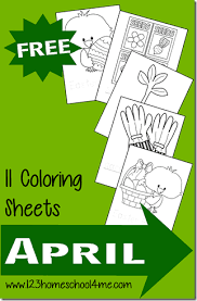 Coloring is good for your kid's motor skill and creative development. Free Spring Coloring Pages