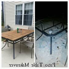 replacement glass for round picnic table best patio table makeover shattered glass redo