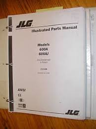 jlg 600a 600aj parts manual catalog book boom lift 3121206 manlift image is loading jlg 600a 600aj parts manual catalog book boom