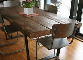 wooden kitchen table rustic