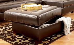 Square Leather Ottoman Coffee Table Size