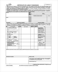 Sample Certificate Of Liability Insurance Forms - 6+ Free Documents ...
