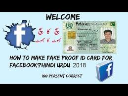 Urdu-hindi Proof For Id Fake How Card Facebook To - Youtube Make