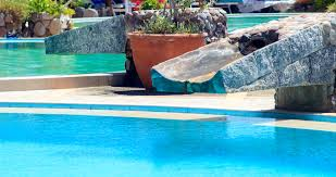 salt water pool systems. A Salt Water Pool With Slide Systems